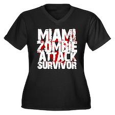 Miami Zombie Attack Survivor Women's Plus Size V-N