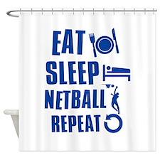 Eat Sleep Netball Shower Curtain