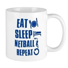 Eat Sleep Netball Small Mugs