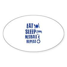 Eat Sleep Netball Bumper Stickers