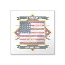11th Michigan Infantry (Diamond).png Square Sticke