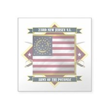 "23rd New Jersey (Diamond).png Square Sticker 3"" x"
