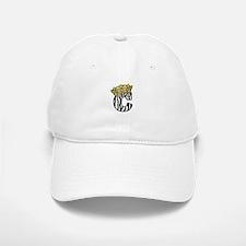 Zebra Stripe C with Golden Crown Baseball Baseball Cap