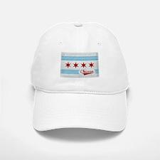Vintage Chicago Flag Design Baseball Baseball Cap