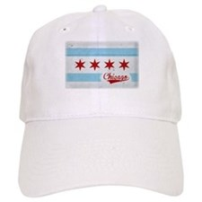 Vintage Chicago Flag Design Baseball Cap