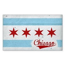 Vintage Chicago Flag Design Decal