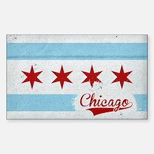Vintage Chicago Flag Design Decal