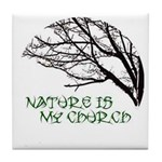 10x10_apparelNatureChurch.png Tile Coaster