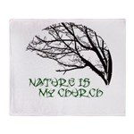 10x10_apparelNatureChurch.png Throw Blanket