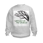10x10_apparelNatureChurch.png Kids Sweatshirt