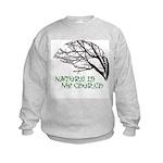 10x10_apparelNatureChurch.png Kids Sweatshirt