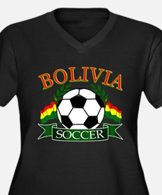 Bolivia Soccer designs Women's Plus Size V-Neck Da