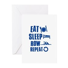 Eat Sleep Row Greeting Cards (Pk of 10)