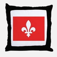 Red Square Lys Carre Rouge Throw Pillow