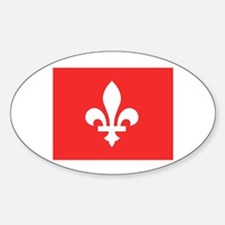 Red Square Lys Carre Rouge Sticker (Oval)
