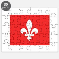 Red Square Lys Carre Rouge Puzzle