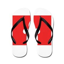 Red Square Lys Carre Rouge Flip Flops