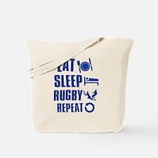 Eat Sleep Rugby Tote Bag