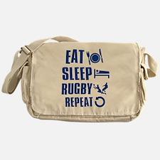 Eat Sleep Rugby Messenger Bag