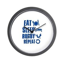 Eat Sleep Rugby Wall Clock