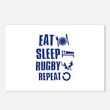 Eat Sleep Rugby Postcards (Package of 8)