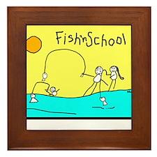 Fish'nSchool 2 Framed Tile