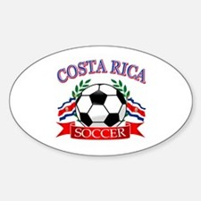 Costa Rica Soccer designs Sticker (Oval)