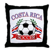 Costa Rica Soccer designs Throw Pillow