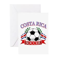 Costa Rica Soccer designs Greeting Card