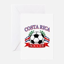 Costa Rica Soccer designs Greeting Cards (Pk of 20