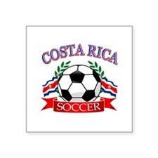 "Costa Rica Soccer designs Square Sticker 3"" x 3"""