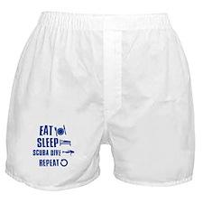 Eat Sleep Scuba Dive Boxer Shorts