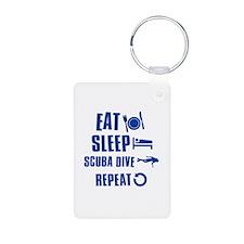 Eat Sleep Scuba Dive Aluminum Photo Keychain