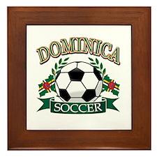 Dominica Soccer designs Framed Tile