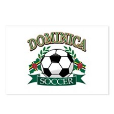 Dominica Soccer designs Postcards (Package of 8)