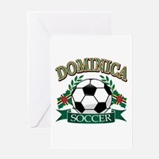 Dominica Soccer designs Greeting Card