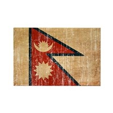 Nepal Flag Rectangle Magnet
