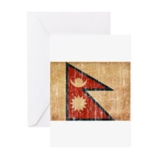 Nepal Flag Greeting Card