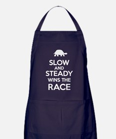 Slow and Steady Wins the Race White Text Apron (da