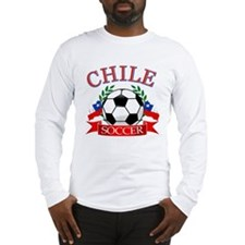 Chile Soccer designs Long Sleeve T-Shirt
