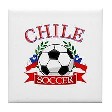 Chile Soccer designs Tile Coaster