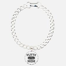 Flute Mom Charm Bracelet, One Charm