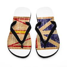 Newfoundland Flag Flip Flops