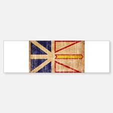 Newfoundland Flag Bumper Bumper Sticker