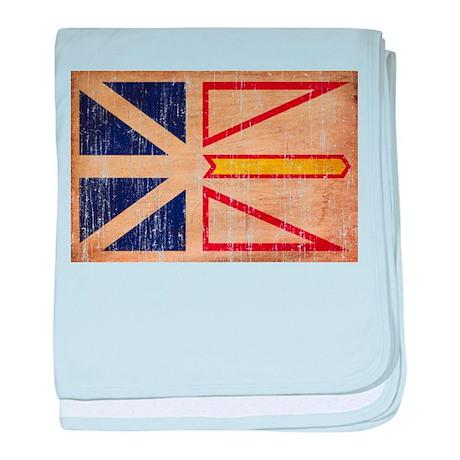 Newfoundland Flag baby blanket
