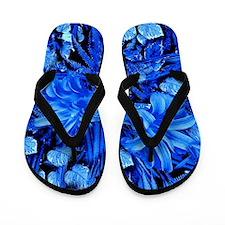 So Blue Lily Flip Flops