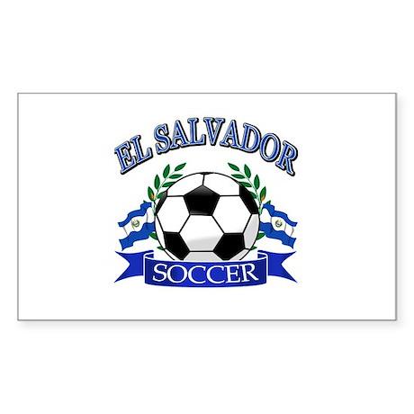 El Salvador Soccer designs Sticker (Rectangle)
