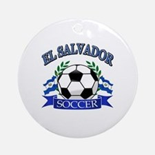 El Salvador Soccer designs Ornament (Round)