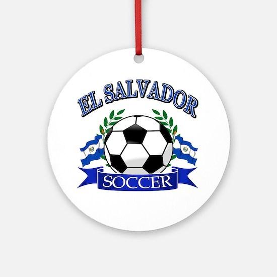 El Salvador Soccer designs Ornament (Round)
