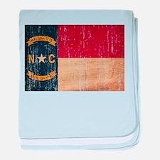 North Carolina Flag baby blanket